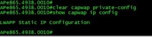 Clearing CAPWAP config